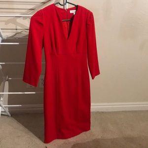 💕CALVIN KLEIN💕 Red Dress